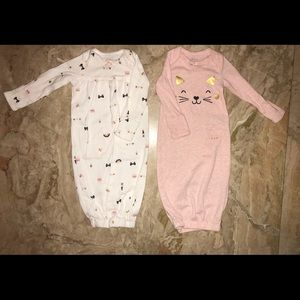 Carters Kitty Cat Nightgowns for Newborns